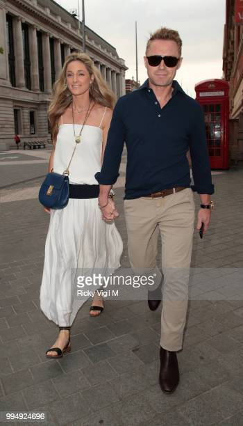 Storm and Ronan Keating seen attending Syco summer party at Victoria and Albert Museum on July 9 2018 in London England