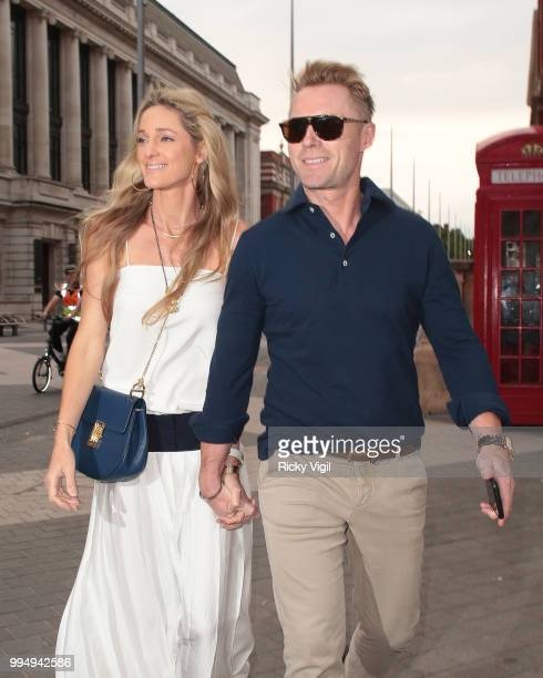 Storm and Ronan Keating seen attending Syco - summer party at Victoria and Albert Museum on July 9, 2018 in London, England.