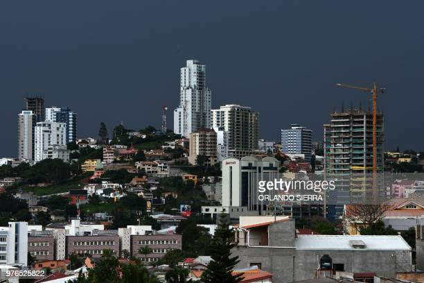 A storm approaches Tegucigalpa on June 16 2018