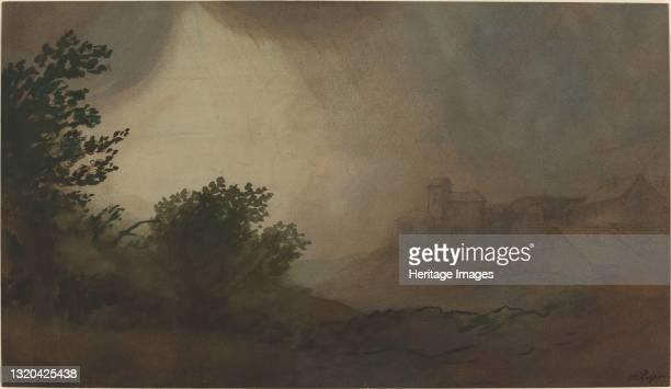 Storm. Artist Alphonse Legros.