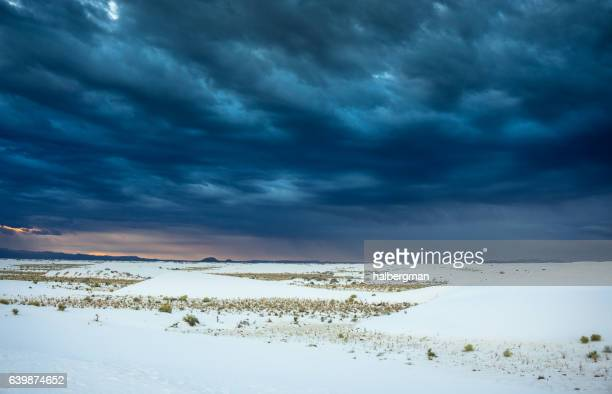 storm at white sands national monument - chihuahua desert stock pictures, royalty-free photos & images