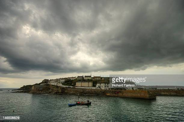 Storm brewing over Porthleven harbour