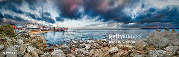 storm clearing on cannery row - monterey, ca - monterrey stock pictures, royalty-free photos & images