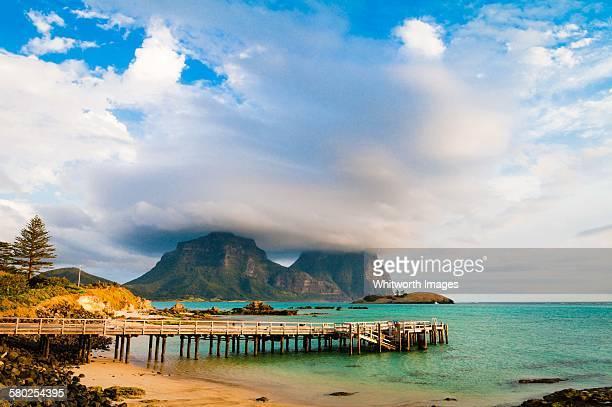 Storm cloud on Mt Gower Lord Howe Island Australia
