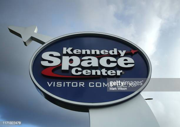 Storm clouds appears neat the Kennedy Space Center as Hurricane Dorian approaches Florida on August 31 2019 in Cape Canaveral Florida Dorian could be...