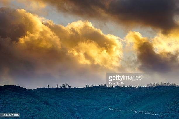storm clouds at sunset - don smith stock pictures, royalty-free photos & images