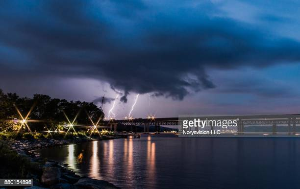 storm clouds before the rain - tarrytown stock photos and pictures