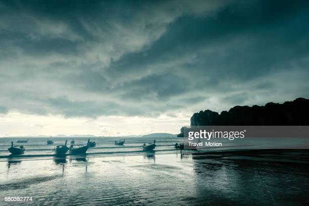 Storm clouds gathering at Railay Beach, Krabi, Thailand