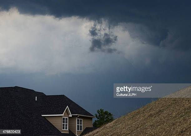 storm clouds gathering over house - charleston west virginia stock pictures, royalty-free photos & images
