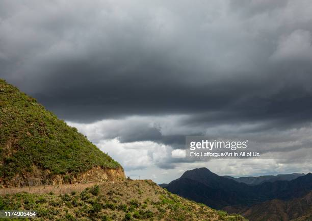 Storm clouds in the highlands, Central region, Asmara, Eritrea on August 14, 2019 in Asmara, Eritrea.