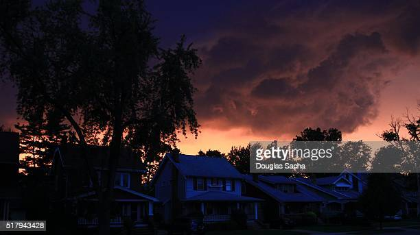 Storm Clouds Over A residential urban street