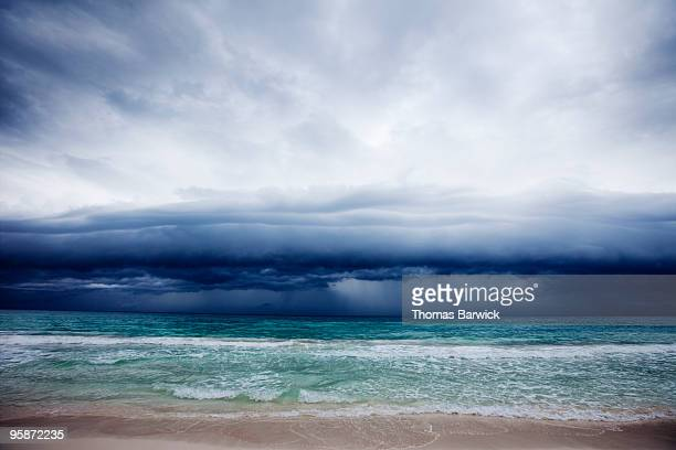 Storm clouds over Caribbean Sea