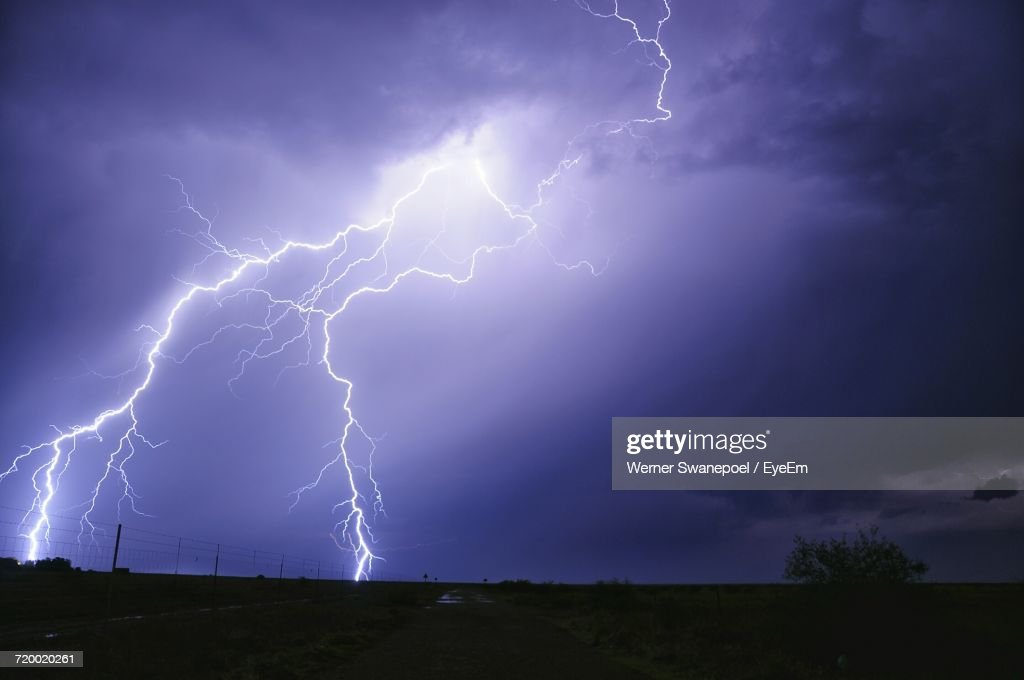Storm Clouds Over City : Stock Photo