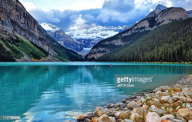 Storm clouds over Lake Louise