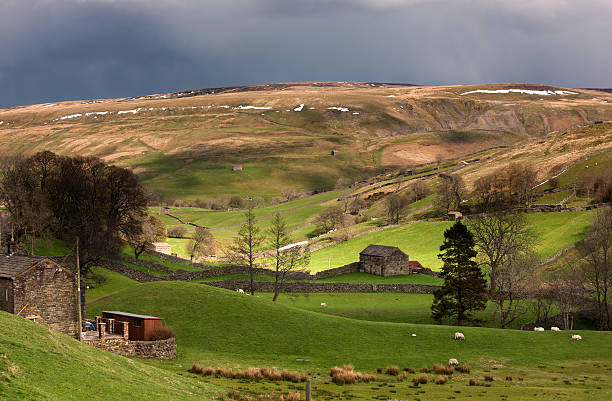 Storm Clouds Over Rolling Hills Wall Art