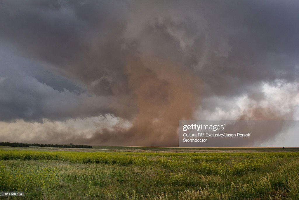 Storm clouds over rural landscape : Stock Photo