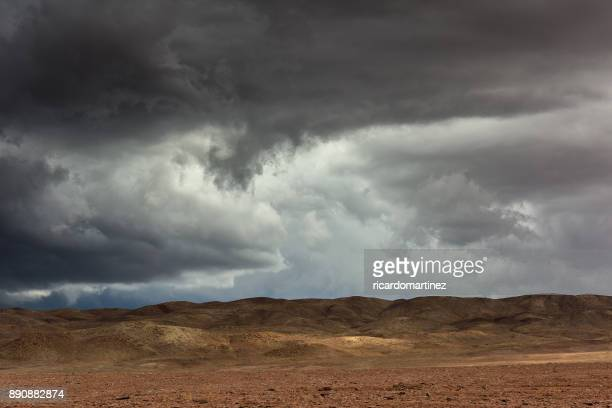 Storm clouds over the Atacama desert, Chile