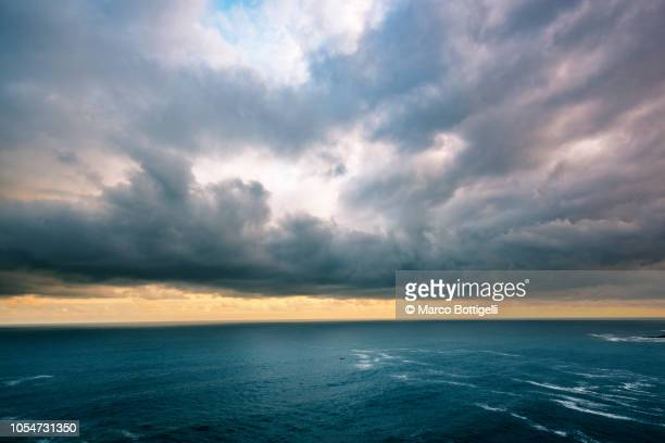 storm clouds over the atlantic ocean - meteorology stock pictures, royalty-free photos & images