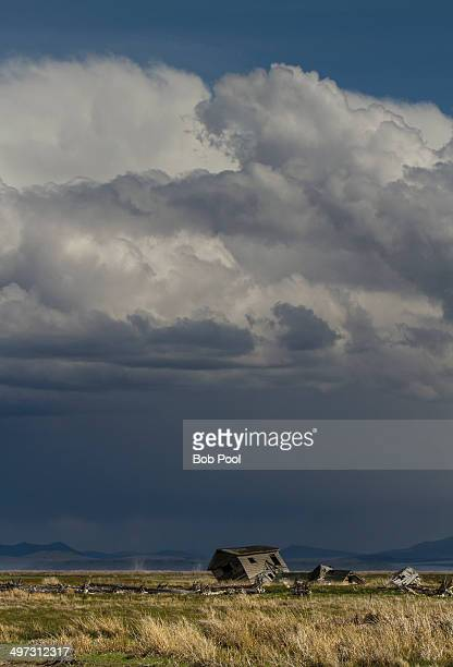 Storm clouds over the central Oregon desert
