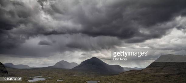 storm clouds over torridon - moody sky stock pictures, royalty-free photos & images