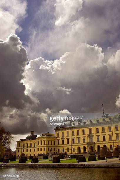 storm clouds - drottningholm palace stock pictures, royalty-free photos & images