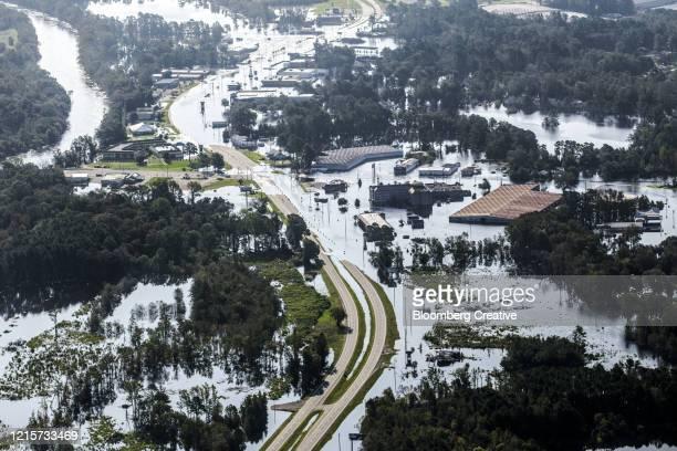 storm damage after hurricane florence - extreem weer stockfoto's en -beelden