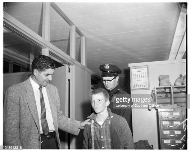 Storm drain chase, 5 February 1958. Officer Joseph Spelman;Officer Jacob Pall;Gwen Denning ;John Miscik ;Douglas Kester ;Larry Price -- 13 years...