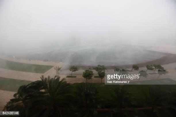 Storm hits marina in Wudam Al Sahil, Oman