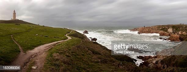 Storm in A Coruña coast
