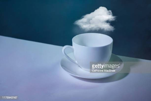 storm in a teacup - catherine macbride stock pictures, royalty-free photos & images