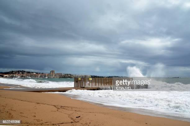 Storm in  Fréjus St Raphael France