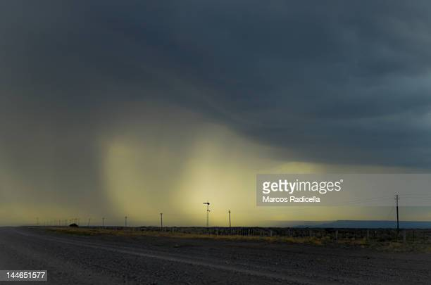 storm in patagonia route - radicella stock pictures, royalty-free photos & images