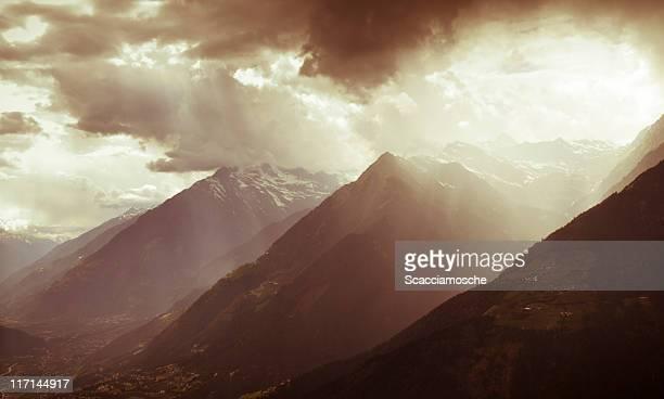 Storm in den Alpen