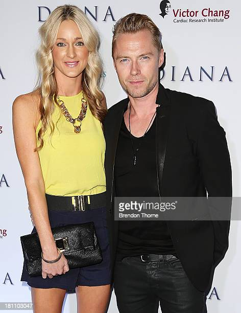 Storm Keating and Ronan Keating arrive at the Australian premiere of 'Diana' at Event Cinemas George Street on September 19 2013 in Sydney Australia