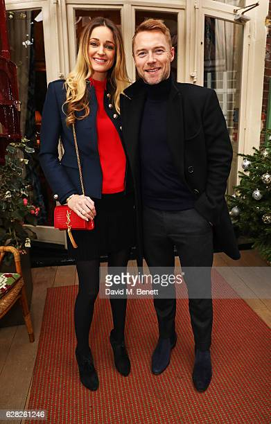 Storm Keating and Ronan Keating attend a lunch for Emilio De La Morena and Bianka Hellmich in aid of Save The Children at Mark's Club on December 7...