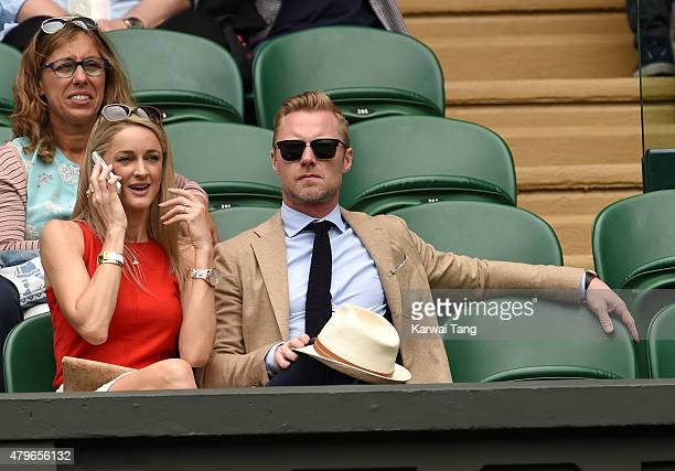 Storm Keating and Ronan Keating attend day seven of the Wimbledon Tennis Championships at Wimbledon on July 6 2015 in London England