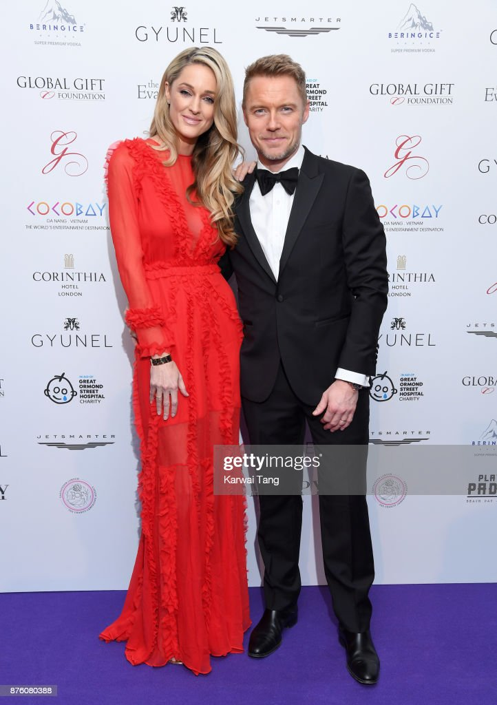 Storm Keating and Ronan Keating attend The Global Gift gala held at the Corinthia Hotel on November 18, 2017 in London, England.