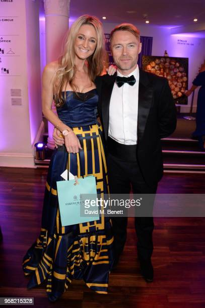 Storm Keating and Ronan Keating attend The Old Vic Bicentenary Ball to celebrate the theatre's 200th birthday at The Old Vic Theatre on May 13, 2018...