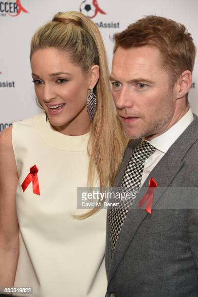 Storm Keating and Ronan Keating attend the World Aids Day Charity Gala aimed at using football to educate and inspire vulnerable young people in...