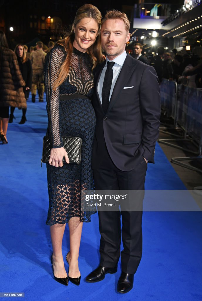 Storm Keating (L) and Ronan Keating attend the World Premiere of 'Another Mother's Son' on March 16, 2017 in London, England.