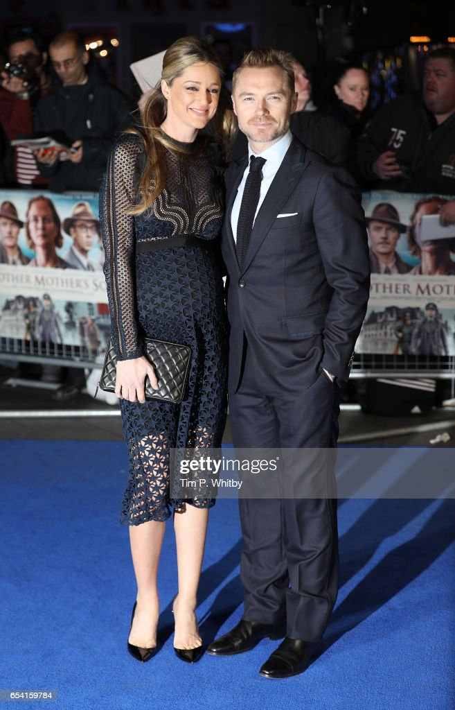 Storm Keating and Ronan Keating attend the World Premiere of 'Another Mother's Son' on March 16, 2017 at Odeon Leicester Sqaure in London, England.