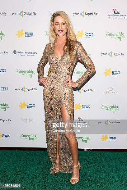 Storm Keating arrives at The Emeralds and Ivy Ball at Sydney Town Hall on October 10 2014 in Sydney Australia