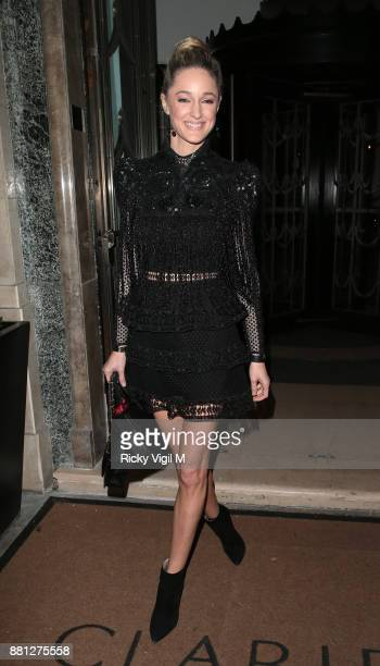 Storm Keating attends the Lady Garden Gala in aid of Silent No More Gynaecological Cancer Fund and Cancer Research UK at Claridge's Hotel on November...