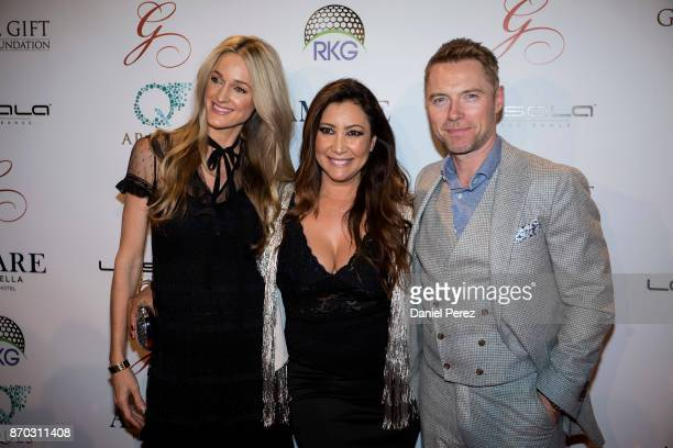 Storm Keating Maria Bravo and Ronan Keating attend at the 2nd Annual Global Gift Ronan Keating Golf Tournament Dinner and Concert on November 11 2017...