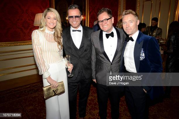 Storm Keating, Paul Drayton , Alan Carr and Ronan Keating attend the Julien Macdonald Fashion Show for National Osteoporosis Society at Lancaster...