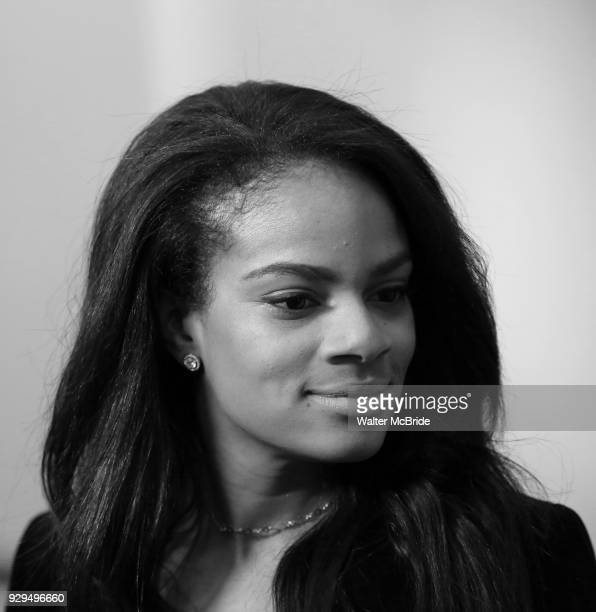Storm Lever attends the press Meet Greet for 'Summer The Donna Summer Musical' on March 8 2018 at the New 42nd Street Studios in New York City