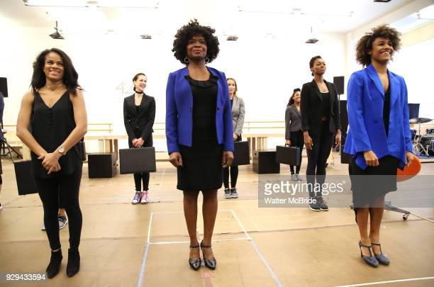 Storm Lever LaChanze and Ariana DeBose during the press presentation for 'Summer The Donna Summer Musical' on March 8 2018 at the New 42nd Street...