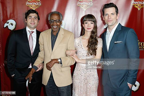 Storm Lineberger Robert Guillaume Katie Travis and Chris Mann attend The Phantom Of The Opera Los Angeles Opening Night at the Pantages Theatre on...