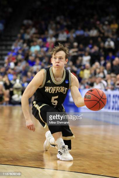 Storm Murphy of the Wofford Terriers passes against the Kentucky Wildcats during the first half of the game in the second round of the 2019 NCAA...