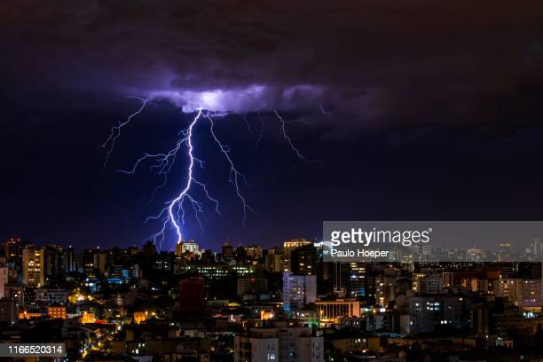 storm night - thunderstorm stock pictures, royalty-free photos & images